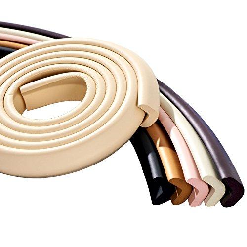 2 m bord forme en V Protection Premium Coussin en mousse pour bord de table coin Protecteurs Gardes Protecteurs bord en beige par design61 108401028002846