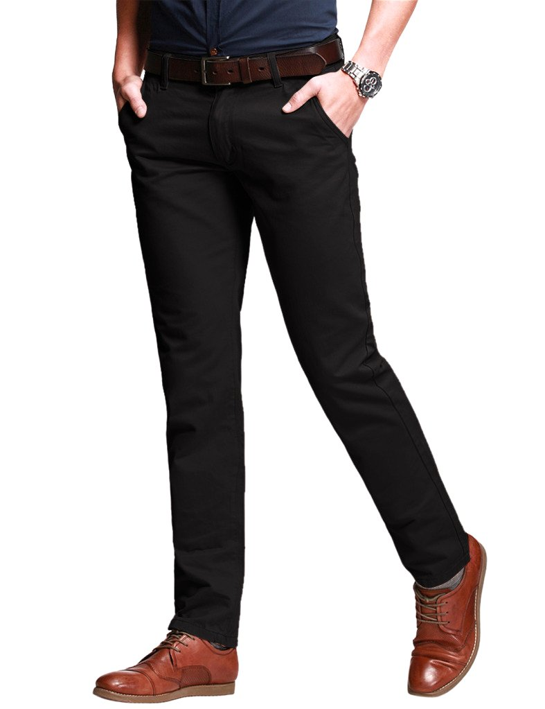 Match Men's Slim Fit Tapered Stretchy Casual Pants (38W x 31L, 8050 Coffee#5)