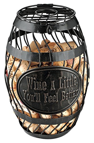 Wine Enthusiast 'Wine A Little' Wine Barrel Cork Catcher, Bronze
