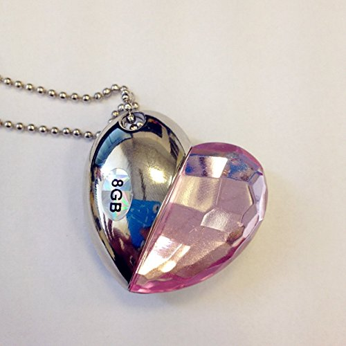 Shiny Crystal Heart Shape Necklace