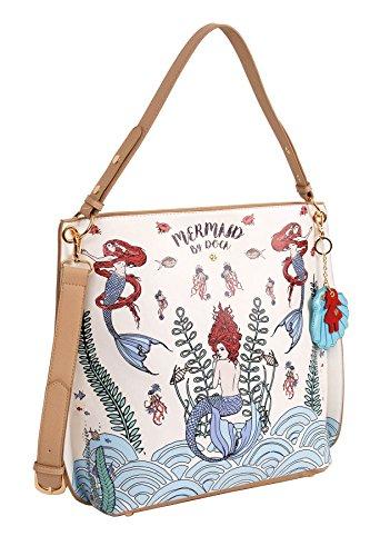 concha casual sirenas y llavero modelos dibujos bolso con mar 2018 de estilo DOCA Xq8EOn