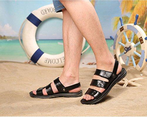 da Scarpe Uomo Black Spiaggia Antiscivolo Pantofole da Estivi Casual Sandali HwdIHv