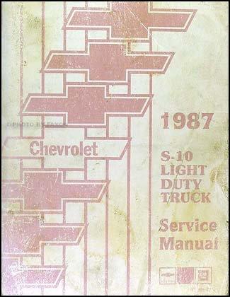 - 1987 Chevrolet S10 Pickup and Blazer Repair Shop Manual Original