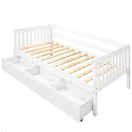 Amazon.com: Daybed with Storage Drawers Twin,JULYFOX Bed Frame Wood ...