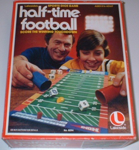 Vintage Half-Time Football Sports Dice Game by Lakeside Games