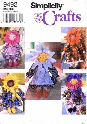SIMPLICITY 9462 FLOWER RAG DOLLS 17