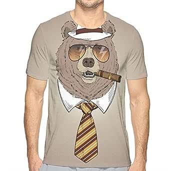 Dibujado a Mano Retrato de Oso en Fedora Hat, Corbata, Gafas de ...