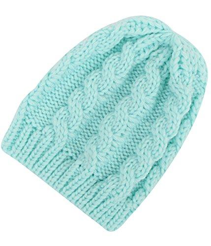 Passionate Adventure Thermal Newborn Skull Winter Beanie Cap Baby Knit Hat Blue