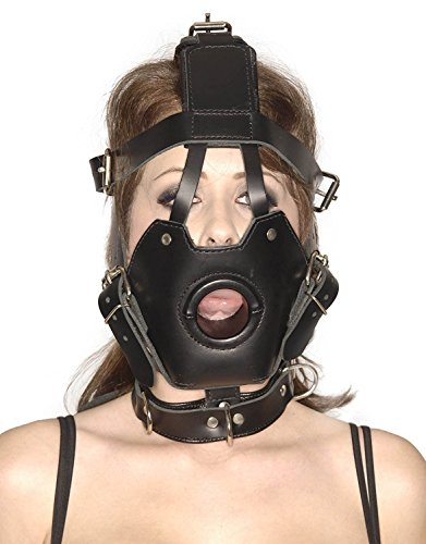 Strict Leather Premium Muzzle with Open Mouth Gag by Strict Leather