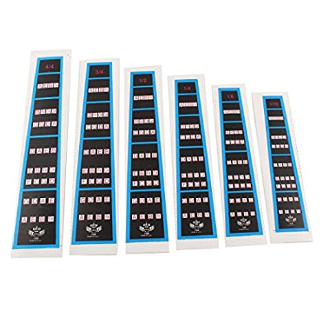 uxcell 6Pcs Violin Practice Fingerboard Sticker Fret