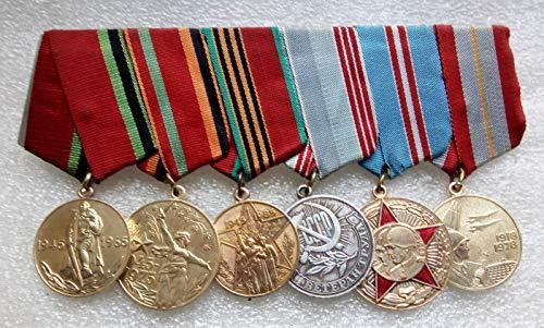 Set 6 Soviet Army USSR Russian Medals Veteran WW II Red Army RKKA Communist Bolshevik Period Cold war era Militaria Soldiers