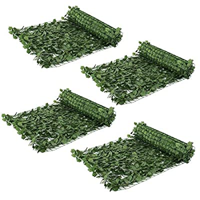 """ZENY Faux Ivy Privacy Fence Screen 94"""" X 59"""" Artificial Hedge Fencing Outdoor Privacy Fence Screen,Wall Home Garden Decoration"""