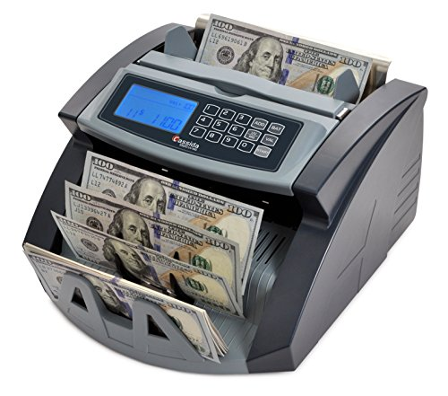 Cassida 5520 UV/MG Money Counter with Counterfeit Bill Detection - Chain Counter Control