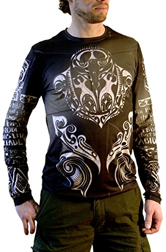 Men's Black Pirates Code Long Sleeve Tattoo - And Gabbanna Dolce