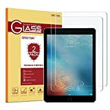 [2 pack] iPad 9.7'' (2018 & 2017) / iPad Pro 9.7 / iPad Air 2 / iPad Air Screen Protector, OMOTON Tempered Glass Screen Protector – Ultra Clear / 2.5D Round Edge/Scratch Resistant