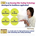 BOS-Amazing-Odor-Sealing-Disposable-Bags-for-Diapers-Cat-Litter-or-Any-Sanitary-Product-Disposal-Durable-and-Unscented-50-Bags-Size-XL-Color-White