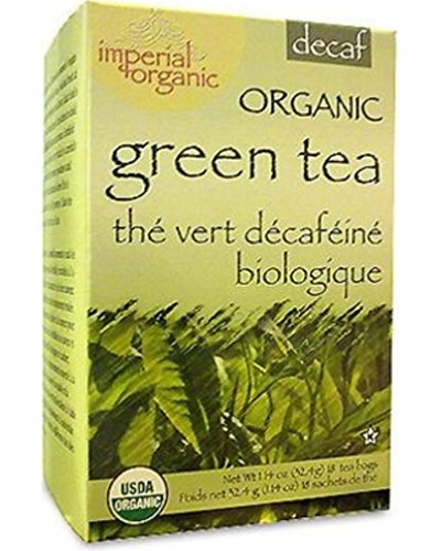 Imperial Organic Tea, Decaf Green Tea, 18 Tea Bags (Pack of 4)