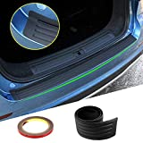 "Car Rear Bumper Protector, GOGOLO Universal Flexible Rubber Bumper Guard Cover Sticker Prevent Trunk Door Scratch While Loading&Unloding Fit for Most Cars, 100% Waterproof Black (35.4"" X 3.1"")"