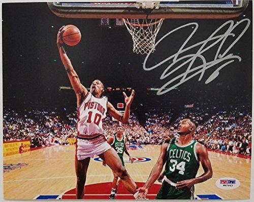 Dennis Rodman Signed Pistons 8x10 Photo PSA/DNA Authentic Autograph - Psa Dna Autographs
