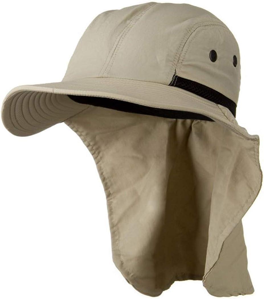 Sun Hat with Neck Flap Beige