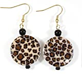 ''On the Prowl'' Shiny Leopard Print Earrings, 2 Inches