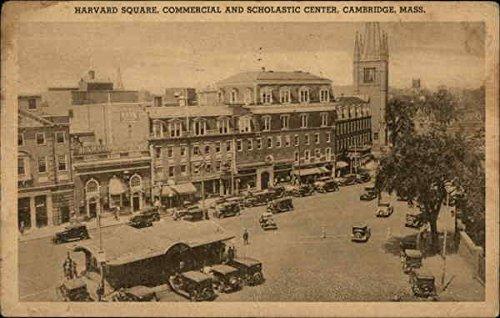 (Harvard Square, Commercial and Scholastic Center Cambridge, Massachusetts Original Vintage Postcard)