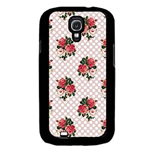 Cool Painting English Roses And Polka Dots Samsung Galaxy S4 I9500 Case Fits Samsung Galaxy S4 I9500