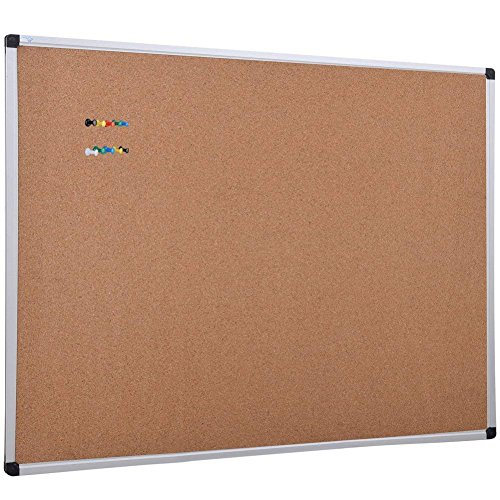(XBoard Cork Board 48 x 36, Bulletin Board Corkboard with Push Pin for Display and Organization)