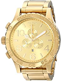 51-30 Chrono A083897-00. All Gold Men's Watch (51mm. Gold Watch Face/25mm Gold Stainless Steel Band)