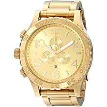 Nixon 51-30 Chrono A083897-00. All Gold Men's Watch (51mm. Gold Watch Face/ 25mm Gold Stainless Steel Band)