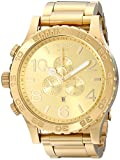 Nixon 51-30 Chrono A083897-00. All Gold Men's Watch (51mm. Gold Watch Face/25mm Gold Stainless Steel Band)