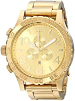Nixon 51-30 Chrono A083897-00. All Gold MenGÇÖs Watch (51mm. Gold Watch Face/ 25mm Gold Stainless Steel Band)