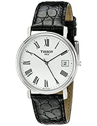 Tissot Men's T52142113 T-Classic Desire Leather White Dial Watch