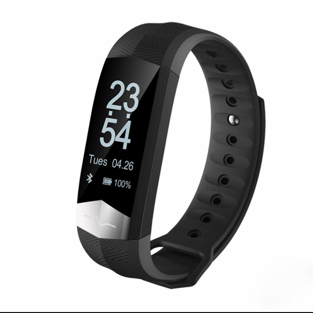 Fitness Tracker Pulsera Inteligente,Pulsera Deportiva Monitor de Actividad con Rastreador de Ejercicios Monitor de Calorías y Sueño Rastreador de Frecuencia Cardíaca Alarmas Silenciosas para Android e iOS Teléfono DiiRoo