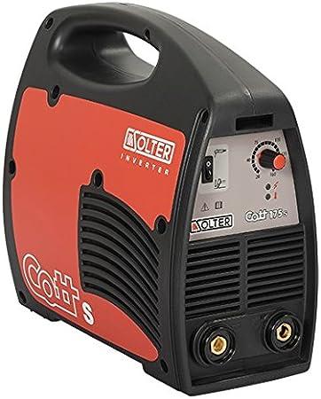 Solter 04241 -  Equipo INVERTER de soldadura de electrodos revestidos Cott 175Se, color negro y rojo
