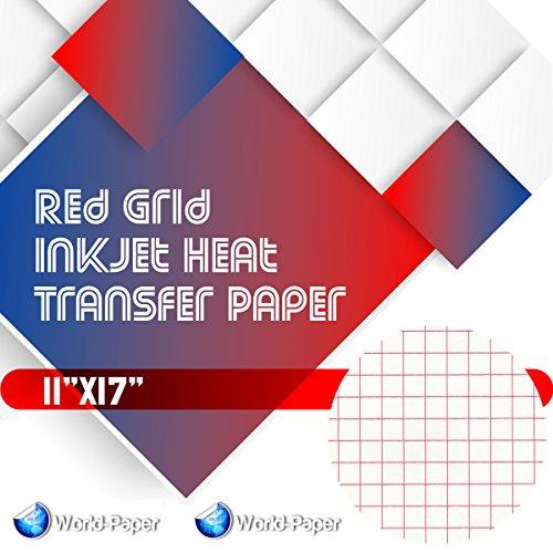Red Grid - Inkjet Heat Transfer Paper 11