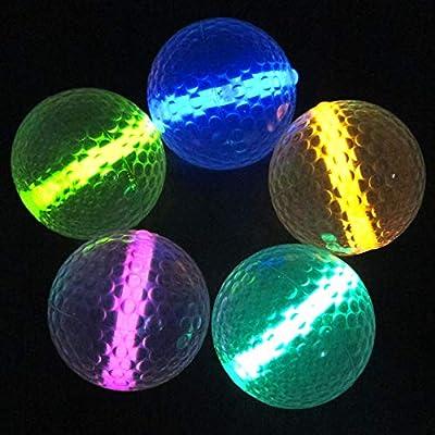 Glow Golf Balls (Set of 20 Night Golf Balls) - Glowing Golf Balls with Glow Stick Inserts