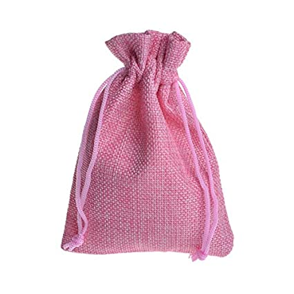 Ya Jin 30 bolsas de yute con cordón para regalo de boda ...