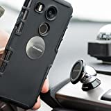 Magnetic Car Mount, 360 Degree Rotatable Universal Car Phone Mount Holder Compatible with iPhone X / 8 / 8 Plus / Galaxy S9 / S9 Plus / S8 / S8 Plus / Note 8 and More - PrimeCables® (Single Pack)