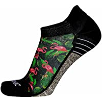 Black & Pink Flamingo Crew Socks