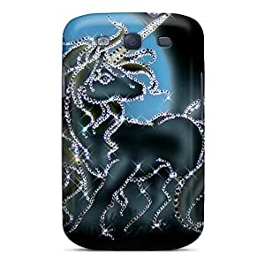 LASforcase Case Cover For Galaxy S3 - Retailer Packaging Glitter Unicorn Protective Case