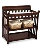 Baby Crib with Changing Station Delta Children Eclipse Changing Table, Black Cherry