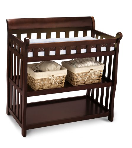 Delta Children Eclipse Changing Table, Black Cherry (Baby Dressers Cherry)