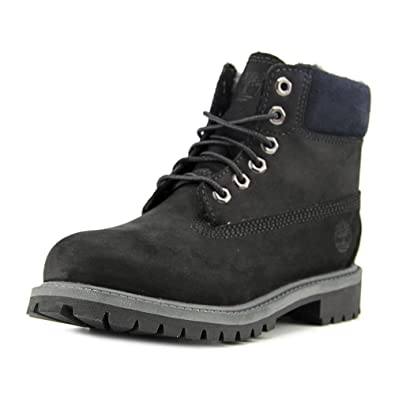 a38f24e41 Timberland Unisex Youth 6 Inch Classic Boot with Fleece, Black Nubuck 1.5 M  US Little