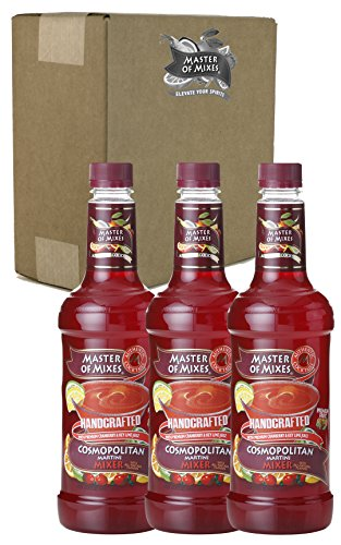Master of Mixes Cosmopolitan Drink Mix, Ready To Use, 1 Liter Bottle (33.8 Fl Oz), Pack of 3