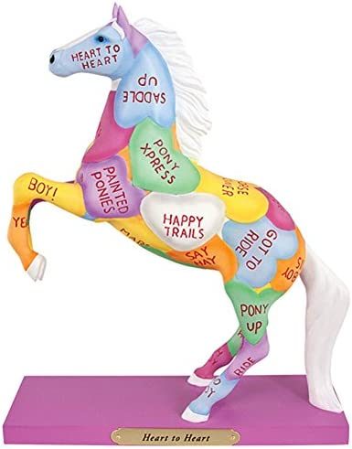 Trail of Painted Ponies Heart to Heart Candy Hearts Valentines Horse Figurine