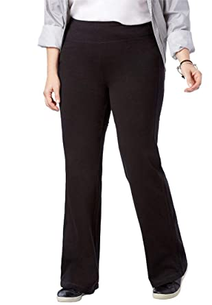 016af401b6548 Woman Within Plus Size Tall Stretch Cotton Wide Leg Pant at Amazon Women s  Clothing store