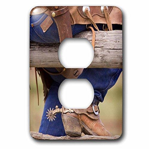 3dRose lsp_93537_6 Oregon, Seneca, Ponderosa Ranch, Cowboy - Us38 Bja0336 - Jaynes Gallery - 2 Plug Outlet Cover