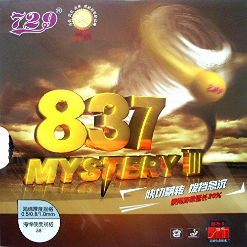 729 837 Mystery III Table Tennis Rubber (Black) - 1
