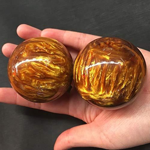 2Pcs Men Women Genuine Golden Black Coral Sea Willow cure the handball Ball 50MM